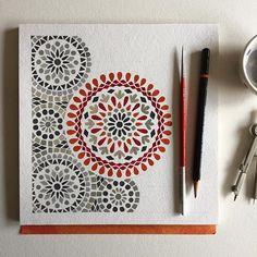 mandala - work in progress (c calderas) Mandala Art Lesson, Mandala Artwork, Madhubani Art, Madhubani Painting, Doodle Art Drawing, Mandala Drawing, Islamic Art Pattern, Pattern Art, Motifs Islamiques