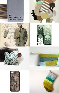 Good Intentions - Click and click again on the picture for more related items, prices and details #alfamarama #etsy #etsytreasury #handmade #craft #designtrends #gifts #presents #christmas #xmas #christmaspresents #christmasgits #coolpresents #coolgifts #goodintentions #green #mint #grey