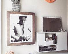 Wall mounted jewelry organizer photo frame (grey wash wood) (Pre-Order) Ship out Dec. 1st!