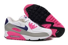 White Gray Purple Pink Nike Air Max 90 Hyperfuse Mens Trainers For Wholesale Nike Tn Air, Tn Nike, Nike Kicks, Cheap Nike Air Max, Nike Air Max For Women, Nike Women, Free Running Shoes, Running Shoes Nike, Nike Shoes For Sale