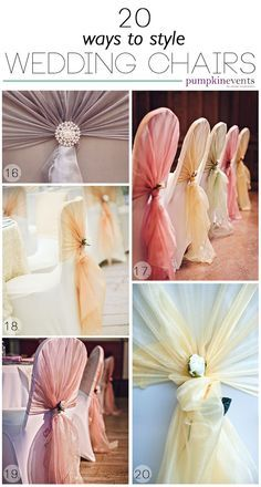 20 Ways to Style Wedding Chairs | Pumpkin Events | Click for Blog Post
