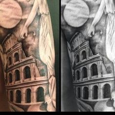 Sneak peek of a black and grey sleeve bob's working on, to be…