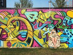 Edmonton Blogger and Social Media Specialist Graffiti Murals, Wall Murals, Lime Green Walls, Garden Mall, Wing Wall, Murals For Kids, Canadian Travel, Photo Walk, Street Artists