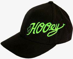 68ba7184417 HOOey Scoreline logo Black and Neon Green Flex Fit Youth Cowboy Cap