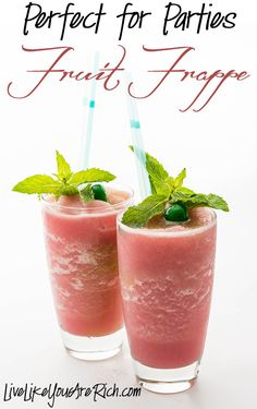 We've been making this fruit frappe for special occasions and everyone loves it. It's great for  baby showers, birthday parties, family get-togethers etc. It only takes about 5 minutes and requires 2 ingredients. You can make a variety of different flavors too. #LiveLikeYouAreRich
