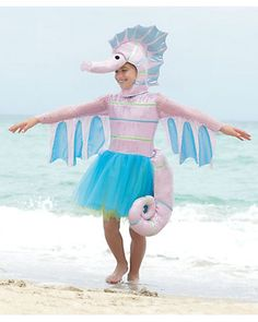 sparkly seahorse girls costume