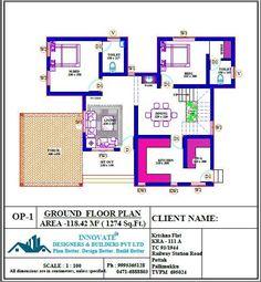 3 Bedroom Beautiful Villa for 36 Lakhs in Free Plan - Free Kerala Home Plans Duplex Floor Plans, Bungalow Floor Plans, House Floor Plans, Classic House Design, Duplex House Design, Small House Design, 2bhk House Plan, Free House Plans, Contemporary House Plans