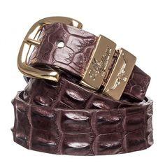 Rm Williams Crocodile Belt Chestnut
