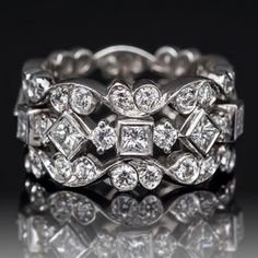 Ladies Wide Band Diamond Rings | Home Jack Kelége Diamond Eternity Wide Band Ring Platinum