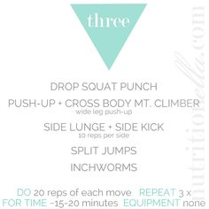 workout of the week - nutritionella