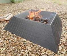 How to Make a Cool and Compact Fire Pit from Half a Sheet of Steel http://www.instructables.com/id/How-to-Make-a-Cool-and-Compact-Fire-Pit-from-Half-/?ALLSTEPS