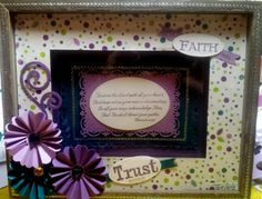 Live, Love & Stamp: Altered Frame with Bible Quote!