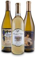 Our White collection at North Carolina Wine Gifts--from Laurel Gray, Stonefield Cellars, and Junius Lindsay vineyards--Order a set today!