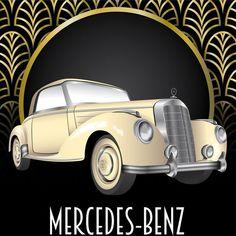 Image result for art deco mercedes benz poster art