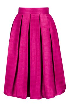 Hot pink pleated midi skirt available only at Pernia's Pop-Up Shop.