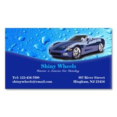 auto detailing business card - Car Wash Business Cards