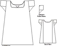 regency chemise pattern | Simplifying the Search for Undergarment Patterns – Chemise & Drawers ...