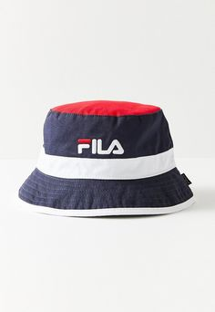 658e79213c1 Urban Outfitters Fila Heritage Unisex Bucket Hat - Navy L