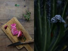 Raw polka beets & tuscan kale from Food Styling & Photography workshop with Dagmar's Kitchen