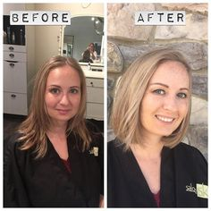 A lovely #hairmakeover by SK stylist Trisha Canedy at our #loudoun…