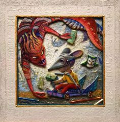 Buy LIKE A MOUSE IN A TRAP - ( Framed 3D effect ), Mixed Media painting by Carlo Salomoni on Artfinder. Discover thousands of other original paintings, prints, sculptures and photography from independent artists.