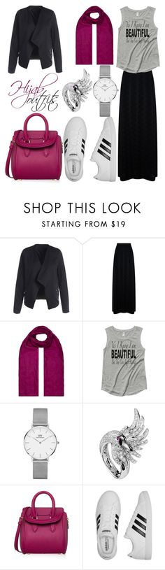 """""""#Casual #chic"""" by mennah-ibrahim ❤ liked on Polyvore featuring M Missoni, Monsoon, Daniel Wellington, Boucheron, Alexander McQueen and adidas"""