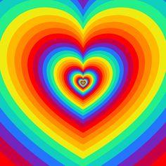 i love you gif Rainbow Gif, Rainbow Heart, Rainbow Toys, Rainbow Aesthetic, Aesthetic Gif, Overlays, Coeur Gif, Heart Overlay, Trippy Gif