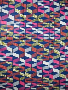 African Fabric Print Super Wax 6 Yards 100 by Africanpremier, $29.99
