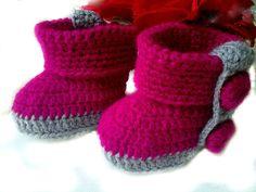 Crochet Baby Booties Newborn Girl Booties by CrochetMiracles, $19.00