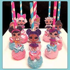 12 Surprise Doll Chocolate Cake Pops LOL Party Favors