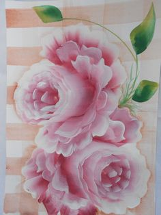 Red roses hand painted card OOAK Blank card Hand by yessysdesigns,