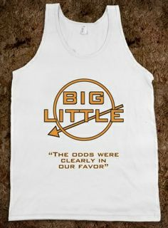Pi Beta Phi arrow- Big/Little Hunger Games themed tanks #piphi #pibetaphi