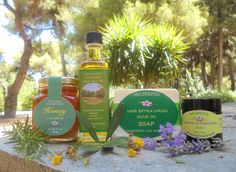 Greek All Natural & Organic Gift Set - With Raw Honey, Extra Virgin Olive Oil, Lavender Chamomille Salve & Soap by Melirrous on Gourmly Greek Gifts, Olive Oil Soap, Vegan Soap, Gourmet Gifts, Raw Honey, Pure Products, Natural Products, Unique Recipes, Special Gifts