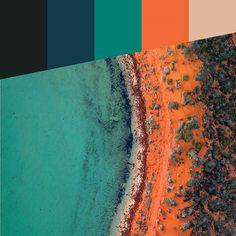 Colour Pallete of Shark Bay (Photo by @saltywings) #colour #colourpallete #sharkbay #australia #westernaustralia #colourinspiration #tlimadesign #colourthemes #shades #tones #hues #followme #like4like #photography #design #drone