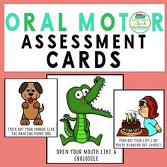 Oral Motor Assessment Cards Oral Motor Activities, Speech Therapy Activities, Daily Exercise Routines, Exercise For Kids, Speech Language Pathology, Speech And Language, Jaw Exercises, Chest Workout Routine, Fitness Devices