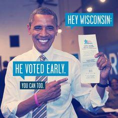 Follow Barack Obama's lead—go vote early: http://ofa.bo/HUREHh.