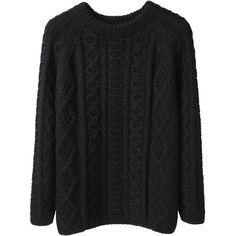 La Garçonne Moderne Alpaca Handknit Sweater ($315) ❤ liked on Polyvore