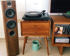 Focal Chorus 714 Rega Brio R Project Debut 3 Ortofon 2M Red Stereo Setup Mid Century @focalcorporate west elm