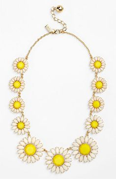 kate spade new york 'estate garden' collar necklace Girls Accessories, Jewelry Accessories, Fashion Accessories, Fashion Jewelry, I Love Jewelry, Jewelry Box, Jewelery, Looks Style, My Style