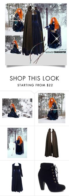 """""""Merida costume"""" by yvette-sch ❤ liked on Polyvore featuring Yves Saint Laurent, Disney, Bamboo, Halloween, contest, merida, 60secondstyle and disneycharactercostume"""