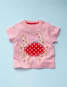 baby boden pink crab applique t