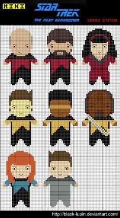 Star Trek: TNG Cross Stitch Charts via black-lupin.deviantart.com
