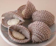 Cute clams #feutrine DIY à réaliser aussi avec nos feutrines Chérie M