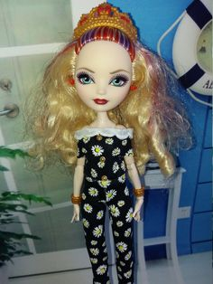 The daisies Romper(Overall) for dolls Ever After High by Dress4bjd on Etsy