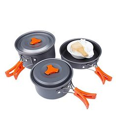 Kit De Batterie De Cuisine De Camping équipement De Cuisine De Camping Pour 2-3 Personnes Batterie De Cuisine De Pique-nique Portative Extérieure Kits De Batterie De Cuisine De Voyage De Pique-niqu
