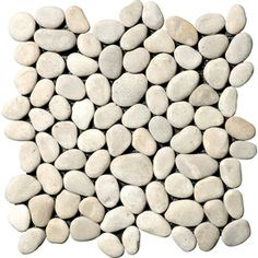 Marble Systems 10-Pack 12-in x 12-in Tan Pebbles Natural Stone Mosaic Wall Tile (Actuals 12-in x 12-in)