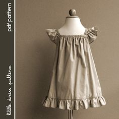 Lauren Dress - PDF Pattern - Size 12 months to 8 years old and tutorial. $6.00
