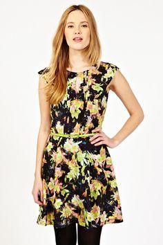 Photo Floral Skater Dress
