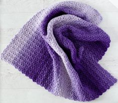 Crochet afghans 259027416057476786 - The Crochet Tulip Stitch just might be my go-to baby afghan pattern stitch from now on. Because it NATURALLY forms this little scalloped border on all sides. Source by afcap Baby Afghan Patterns, Baby Afghan Crochet, Baby Afghans, Crochet Blanket Patterns, Baby Blankets, Crochet Blankets, Crochet Stitches, Knitting Patterns, Small Blankets