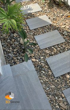 Create a permeable pathway for easy access walking that is both durable and classic looking #3dstone #steppers #stone #paving #gardenpath #pathway #gardenpath